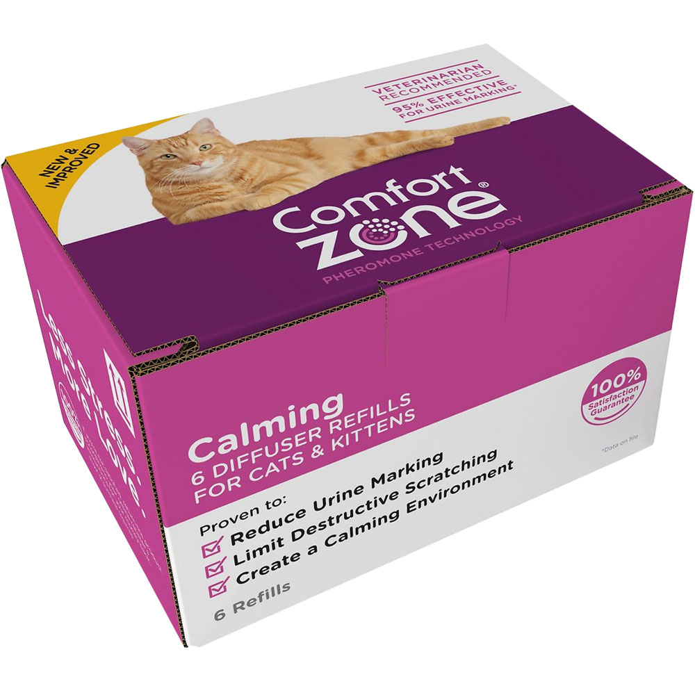 Comfort Zone Calming Diffuser Refills for Cats & Kittens (6-Pack)