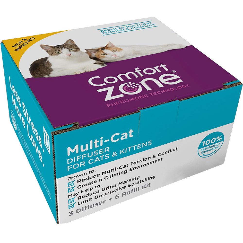 Comfort Zone Multi-Cat Diffuser for Cats & Kittens - Value Pack (3 Diffuser + 6 Refill) im test