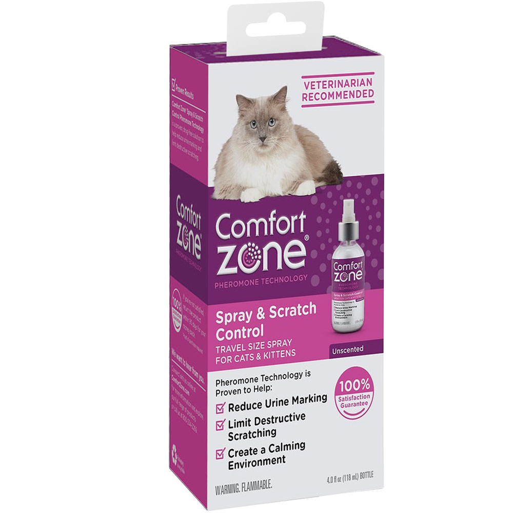 Comfort Zone Spray & Scratch Control for Cats & Kittens (4 oz) im test
