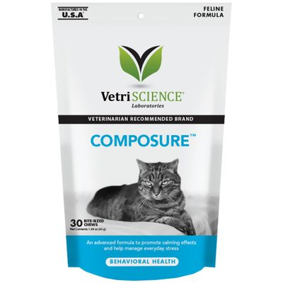Composure Calming Support for Cats (30 Bite-Sized Chews)