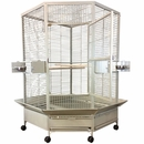 """Corner Bird Cage Extra Large - Stainless Steel (61""""x48""""x73"""")"""