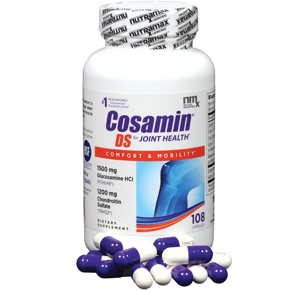 Image of Nutramax Cosamin DS for HUMANS - 108 Capsules - from EntirelyPets