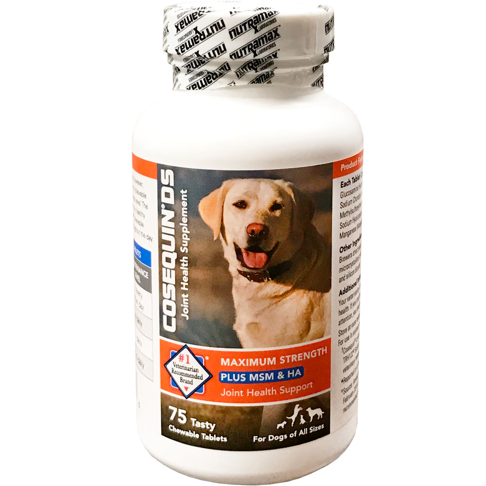 Image of Cosequin DS Plus MSM & HA for Dogs (75 chewable tablets)