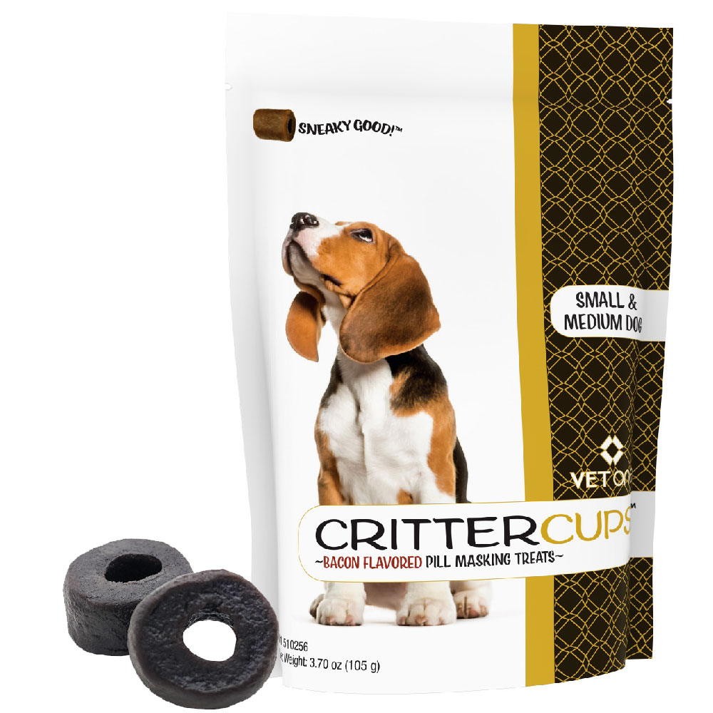 CritterCups Pill Masking Treats for Small and Medium Dogs - Bacon Flavor (3.7 oz) im test