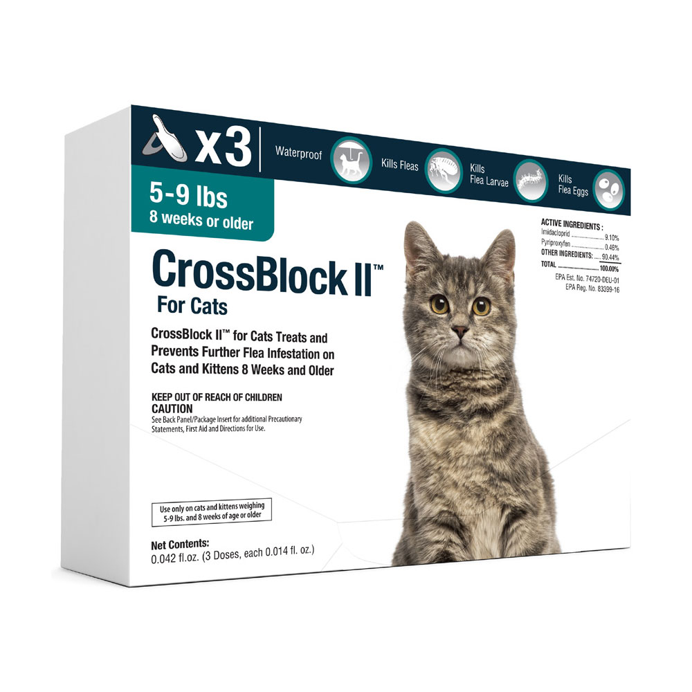 CrossBlock II for Cats and Kittens 5 to 9 Pounds - Teal Label (3 Month) im test