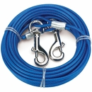 Cruising Companion Cable Tie Out for Dogs upto 60 lbs Blue (15 Feet)