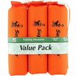 """D.T. Systems Sporting Dog Throwing Dummy Small 3-Pack - Orange (7"""" x 2"""" x 2"""" )"""