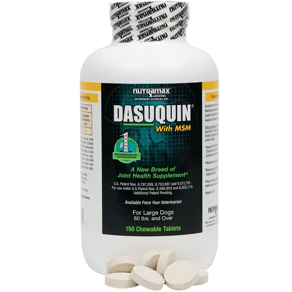 Dasuquin for Large Dogs 60 lbs. & over with MSM (150 Chewable Tabs) im test