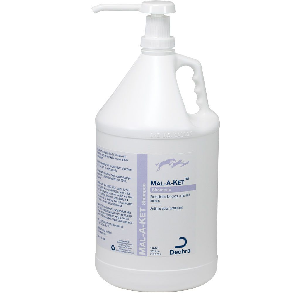 Dechra Mal-A-Ket Shampoo for Dogs, Cats and Horses (1 Gallon)