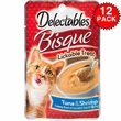 Delectables Bisque Lickable Treat for Cats - Tuna & Shrimp (Box of 12)