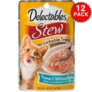 Delectables Stew Lickable Treat for Senior Cats - Chicken & Tuna (Box of 12)