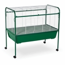 """Deluxe Rabbit Cage & Stand - Green (47""""x40""""x25"""")"""