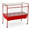 "Deluxe Rabbit Cage & Stand - Red (40""x39.5""x23"")"