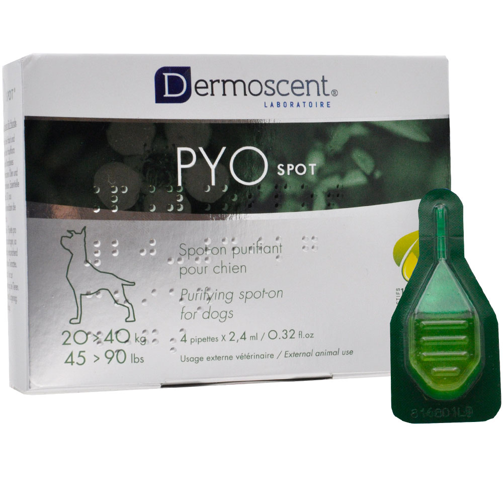 Dermoscent PYO Spot on For Dogs (20-40 kg) - 4 Pipettes