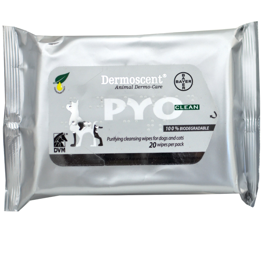 DERMOSCENT-PYOCLEAN-WIPES-DOGS-CATS-20-COUNT