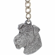 """Dog Breed Keychain USA Pewter - Airedale (2.5"""")"""