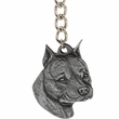 """Dog Breed Keychain USA Pewter - American Staffordshire Terrier (2.5"""")"""