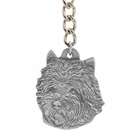 "Dog Breed Keychain USA Pewter - Carin Terrier (2.5"")"