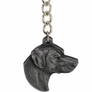 "Dog Breed Keychain USA Pewter - Labrador Retriever (2.5"")"