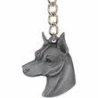 "Dog Breed Keychain USA Pewter - Miniature Pinscher (2.5"")"