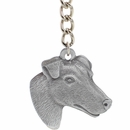 "Dog Breed Keychain USA Pewter - Smooth Haired Fox Terrier (2.5"")"