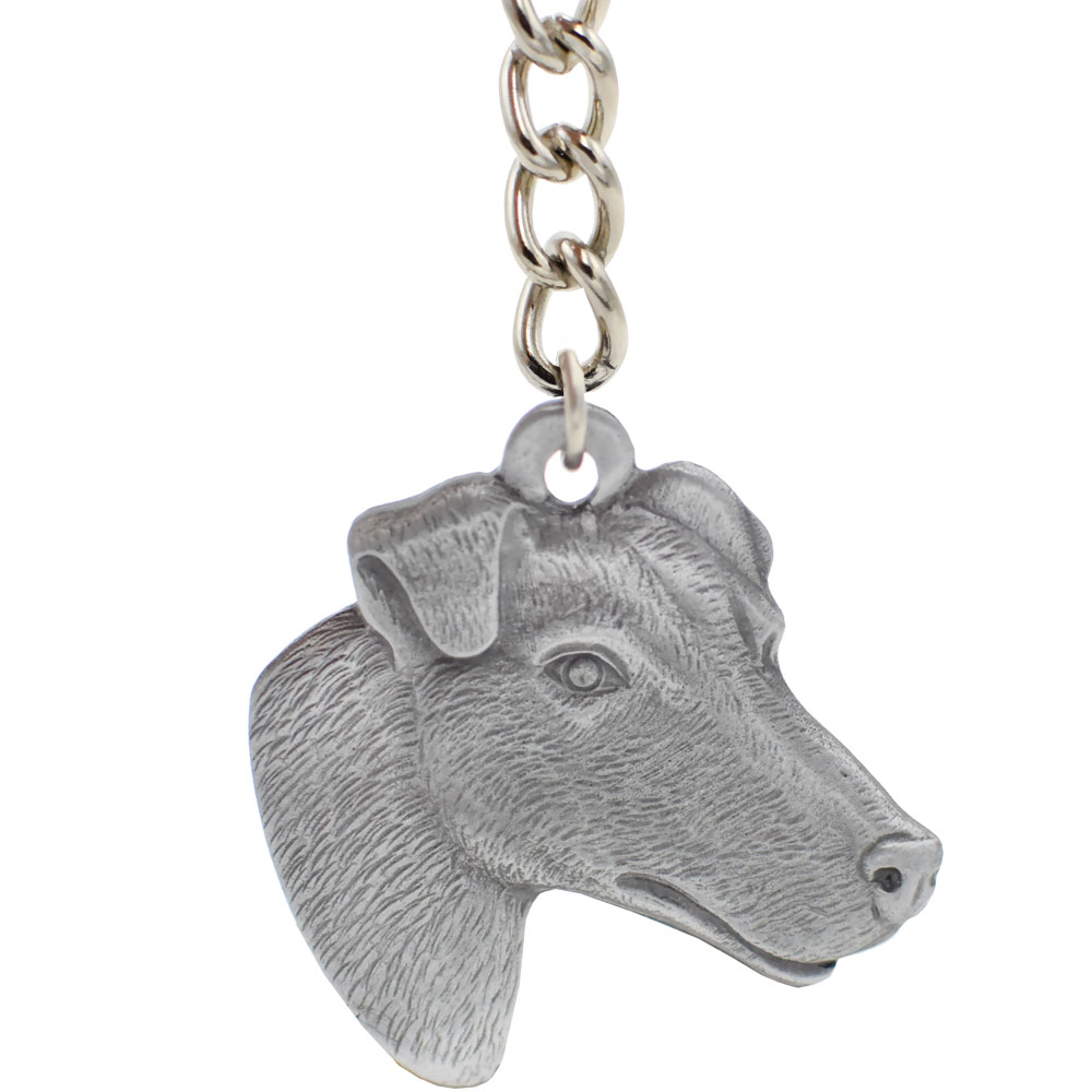 """Dog Breed Keychain USA Pewter - Smooth Haired Fox Terrier (2.5"""")"" im test"
