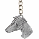 "Dog Breed Keychain USA Pewter - Whippet (2.5"")"