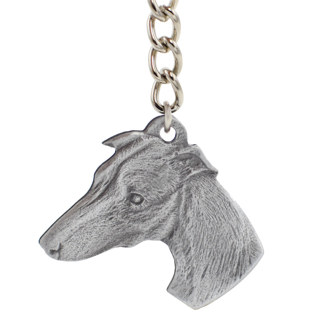 """Dog Breed Keychain USA Pewter - Whippet (2.5"""")"" im test"