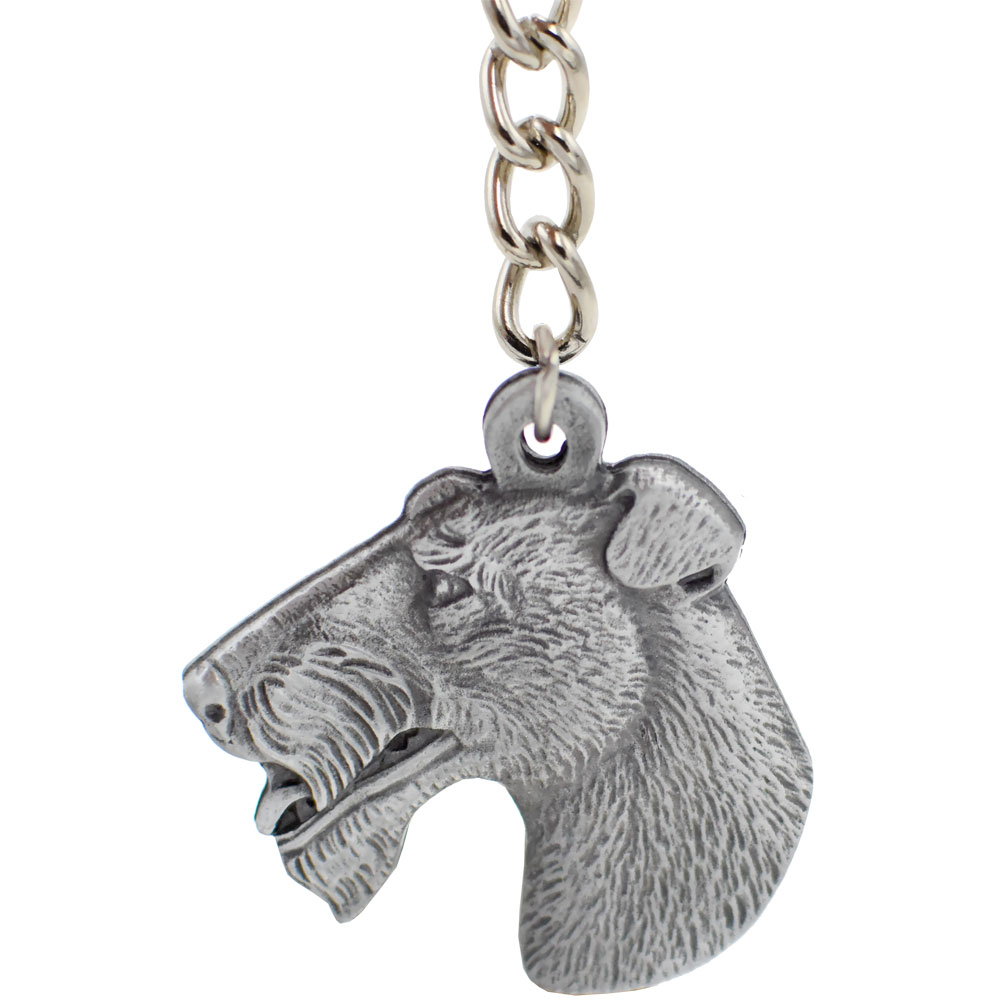 """Dog Breed Keychain USA Pewter - Wirehaired Fox Terrier (2.5"""")"" im test"