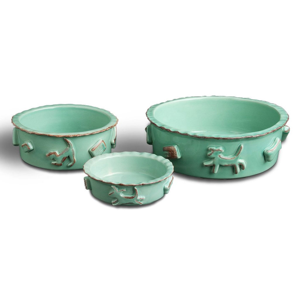 DOG-FOOD-WATER-BOWL-LARGE-AQUA-GREEN