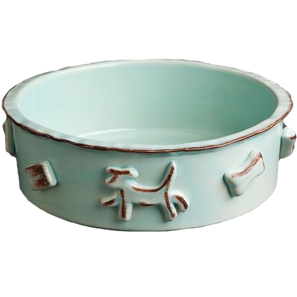 DOG-FOOD-WATER-BOWL-LARGE-BABY-BLUE