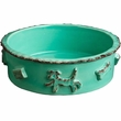 Dog Food/Water Bowl - Medium Aqua/Green