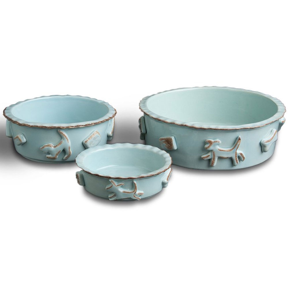 DOG-FOOD-WATER-BOWL-SMALL-BABY-BLUE