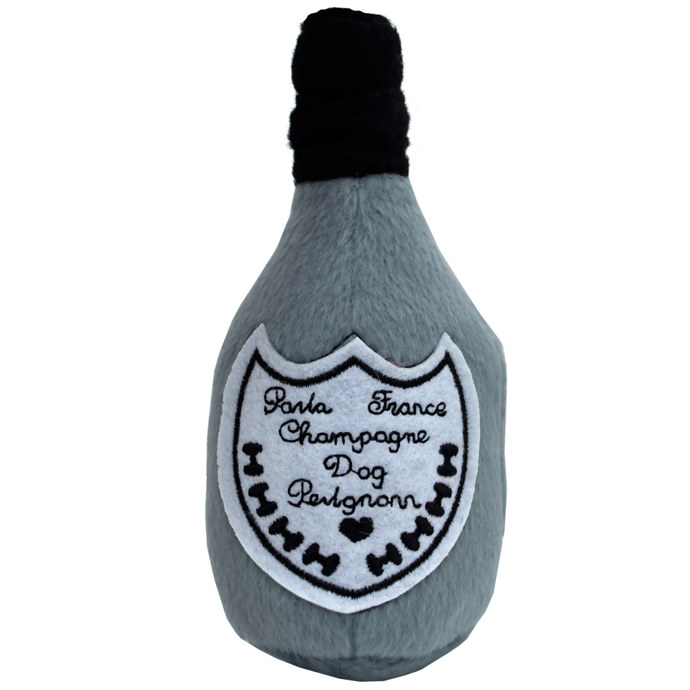 Dog Perignonn Champagne Bottle Plush Toy - Small im test