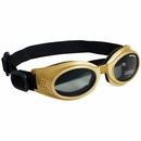 Doggles ILS - Interchangeable Lens System Gold Frame/Smoke Lens - XSmall