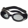 Doggles ILS - Interchangeable Lens System Metallic Black Frame Smoke Lens - Small