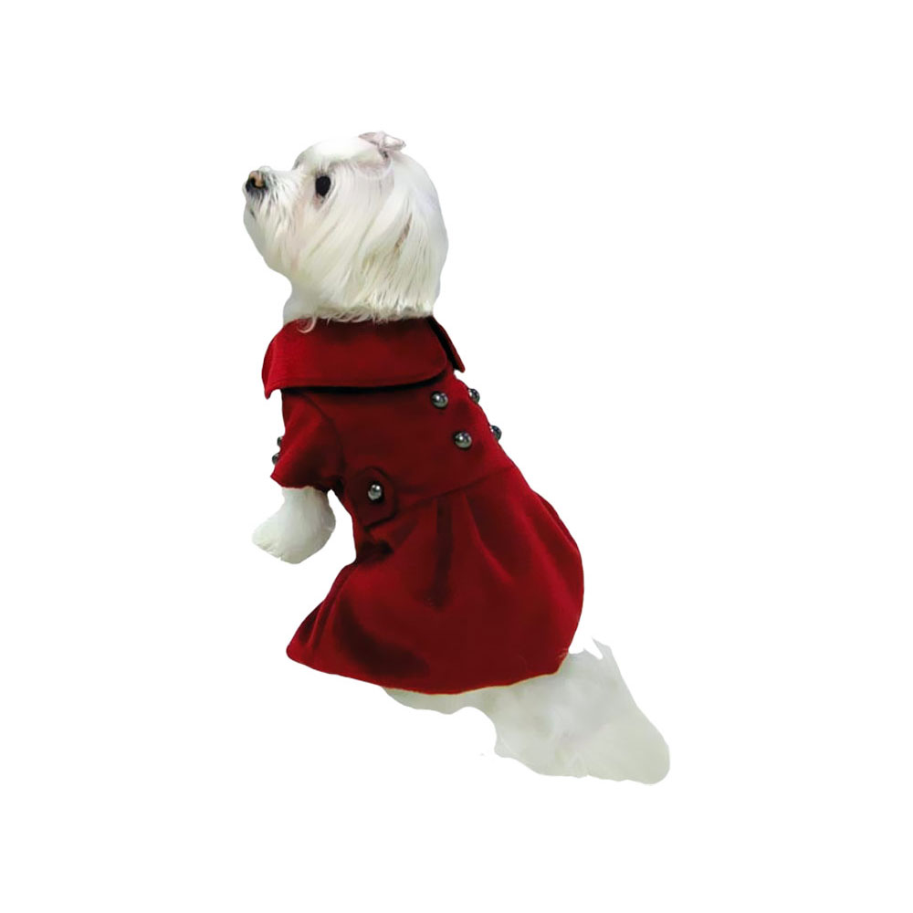 Image of Dogit Military Peacoat Red - Medium