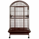 """Dome Top Bird Cage with 1"""" Bar Spacing - Burgundy (40""""x30""""x75"""")"""