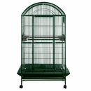"""Dome Top Bird Cage with 1"""" Bar Spacing - Green (40""""x30""""x75"""")"""