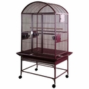 """Dome Top Bird Cage with 3/4"""" Bar Spacing - Burgundy (32""""x23""""x63"""")"""