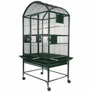 """Dome Top Bird Cage with 3/4"""" Bar Spacing - Green (32""""x23""""x63"""")"""
