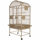 """Dome Top Bird Cage with 3/4"""" Bar Spacing - Sandstone (32""""x23""""x63"""")"""