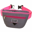 DOOG Treat Pouch - Grey/ Pink (Large)
