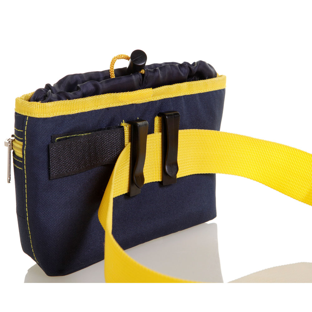 DOOG-TREAT-POUCH-NAVY-YELLOW-LARGE