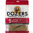 Dozers Dental Chews for Dogs 50 & UP lbs (5 Large Bones)
