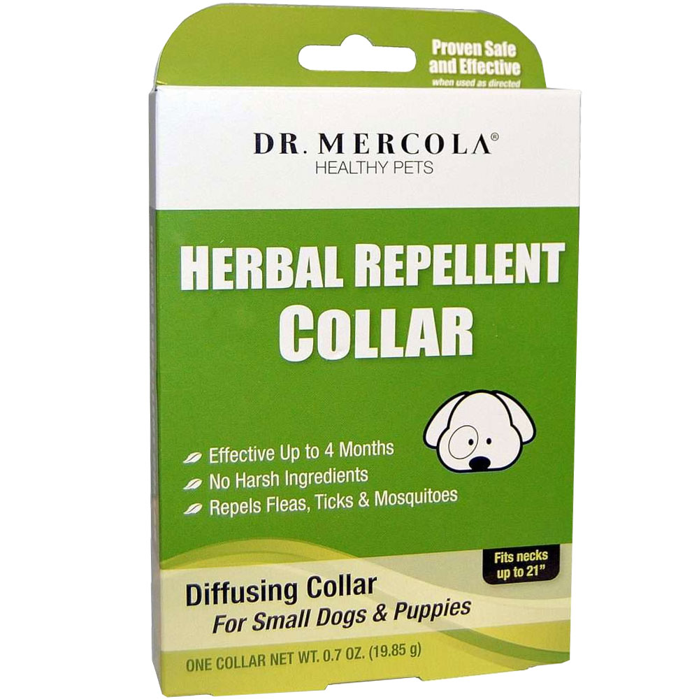 """Dr. Mercola Herbal Repellent Collar for Small Dogs & Puppies (Fits necks up to 21"""")"" im test"