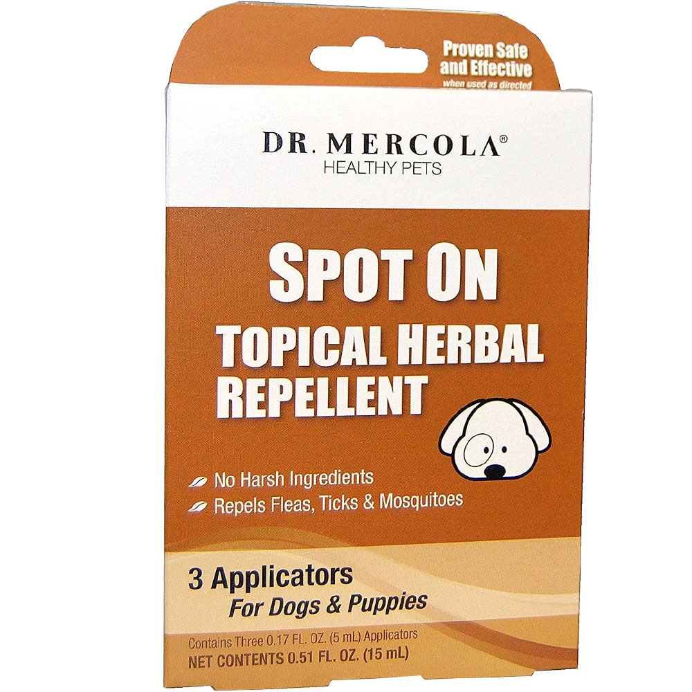 Dr. Mercola Spot On Topical Herbal Repellent for Dogs and Puppies (3 pack) im test