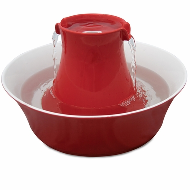 DRINKWELL-STONEWARE-AVALON-FOUNTAIN-RED