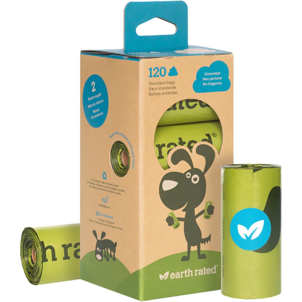 Earth Rated Unscented 8 Refill Poop Bag Rolls (120 bags) im test