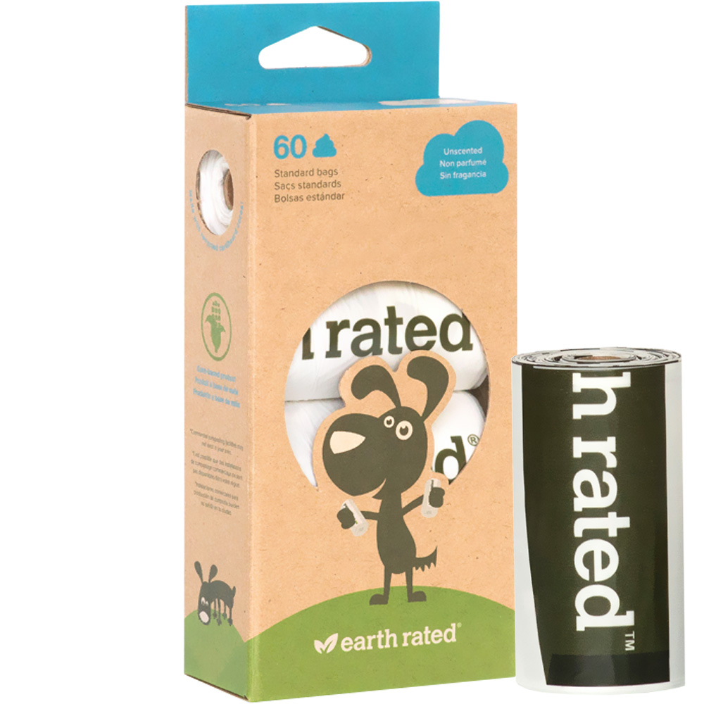 Earth Rated Unscented Vegetable-Based Poop Bags - 4 Rolls (60 count) im test